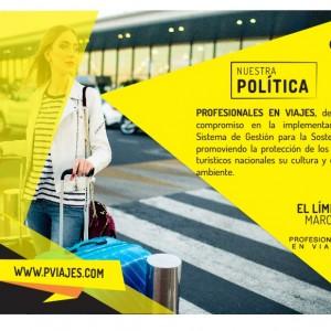NUESTRA POLÍTICA SOSTENIBLE - PVIAJES